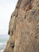 Rock Climbing Photo: Resurrection headwall crux section