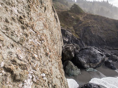 Rock Climbing Photo: The route starts from the main boulder off in the ...