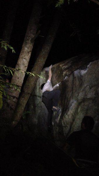 Josh sticking the crux