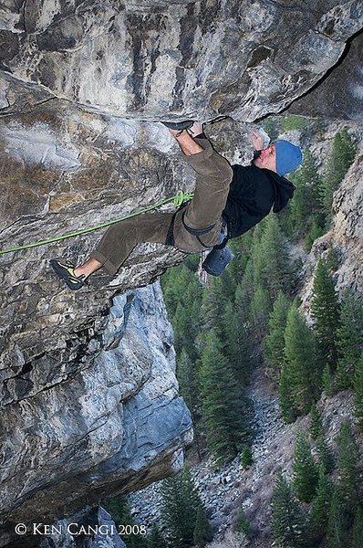 Rock Climbing Photo: Jimmie Redo on HLAH.  © 2008 Ken Cangi, All Right...