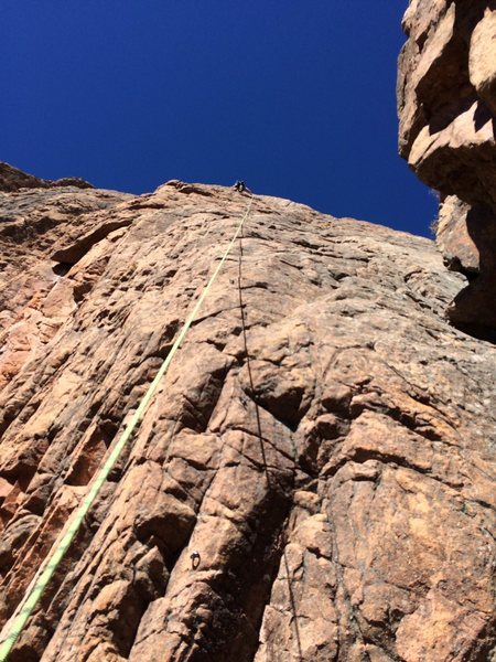 Rock Climbing Photo: It is such a long route