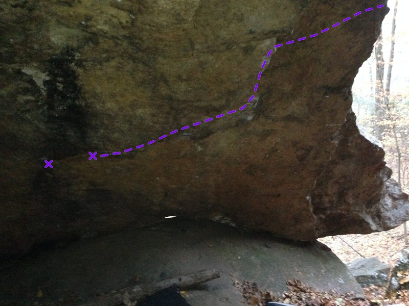 This is a picture of the underside of the cave.