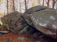 Rock Climbing Photo: Whale and Slick Boulders 1. Joe's Mae Day 2. Whale...