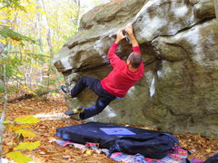 Rock Climbing Photo: Unknown Line in Blair Woods