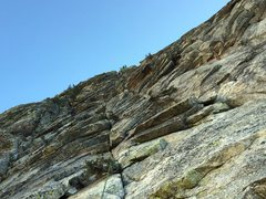 "Rock Climbing Photo: Right before the little ""cave"".  The hig..."