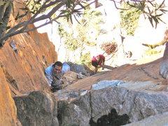 Rock Climbing Photo: Joe and Steve on Mr Crowley 2010