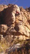Rock Climbing Photo: Charles on Snow Blind .9+