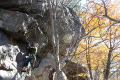 Rock Climbing Photo: Jeremy onsighting... again haha
