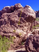 Rock Climbing Photo: beta route