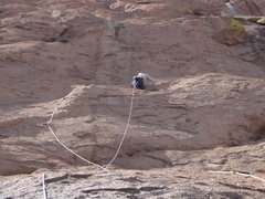 Rock Climbing Photo: Sole Man 5.7   2 1/2 pitches SM.BBn 2002 1st P bol...