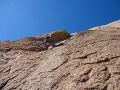Rock Climbing Photo: Eric Hamer on Iron Man Pitch 2