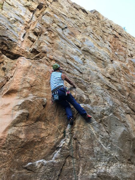 Rock Climbing Photo: Layback beta