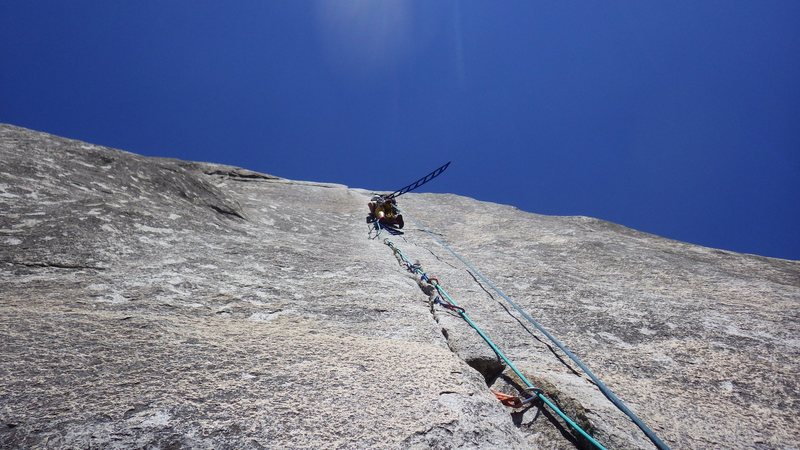 Lis Cordner leading her first aid pitch, Pitch 7 of the South Face