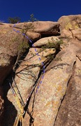 Rock Climbing Photo: Looking up at where you pull the two overlaps to c...