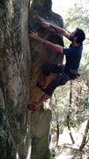 Rock Climbing Photo: This left hand right on the edge is great for pull...