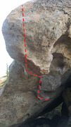 Rock Climbing Photo: fang v5 variation