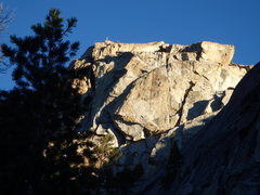 Rock Climbing Photo: Main Crack in the Face of Flag Pole Peak