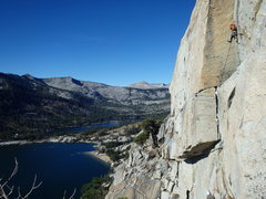 Rock Climbing Photo: Will Mcelroy with the onsight of P2 of Jam Session...