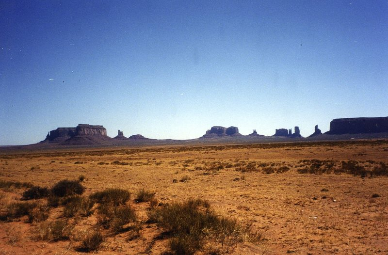 Photo taken driving past Monument Valley.