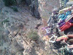 Rock Climbing Photo: So you can actually rappel down bolts from the hig...