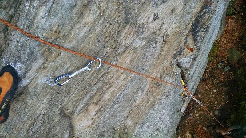 Rock Climbing Photo: Looking down Mixed Bidness.