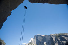 Rock Climbing Photo: Enock on a hanging jug at the Changing Corners pit...