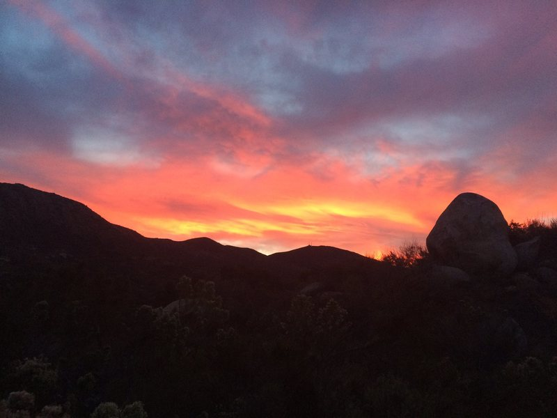 Rock Climbing Photo: Amazing MG sunrise