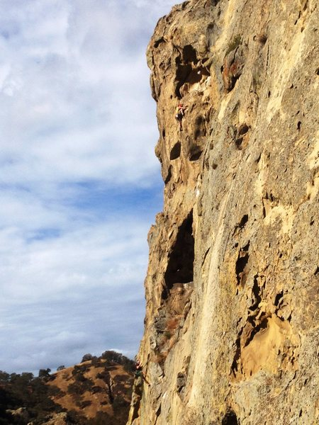 "Rock Climbing Photo: Aaron Hope on Pitch 2 of""Proboscis"" (the..."