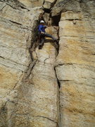 Rock Climbing Photo: One rest...oh,yes- Alan had back-cleaned his pro f...