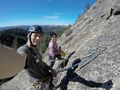 Rock Climbing Photo: Hanging out at the first belay, Chris Kreutzer and...