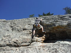 Rock Climbing Photo: The short crux above the anchor