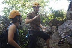 Rock Climbing Photo: Teaching lead climbing
