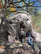Rock Climbing Photo: Burt, at the start