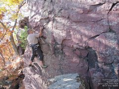 Rock Climbing Photo: Burt, visualizing the OS