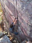 Rock Climbing Photo: Brian, approaching the crux
