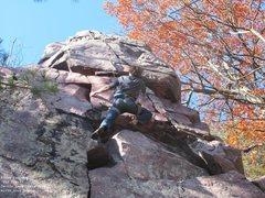 Rock Climbing Photo: Brian, finishing up