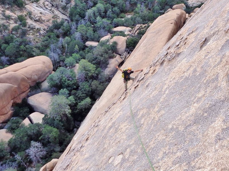 Endless giant jugs on Whats My Line (5.6) in Cochise Stronghold, AZ