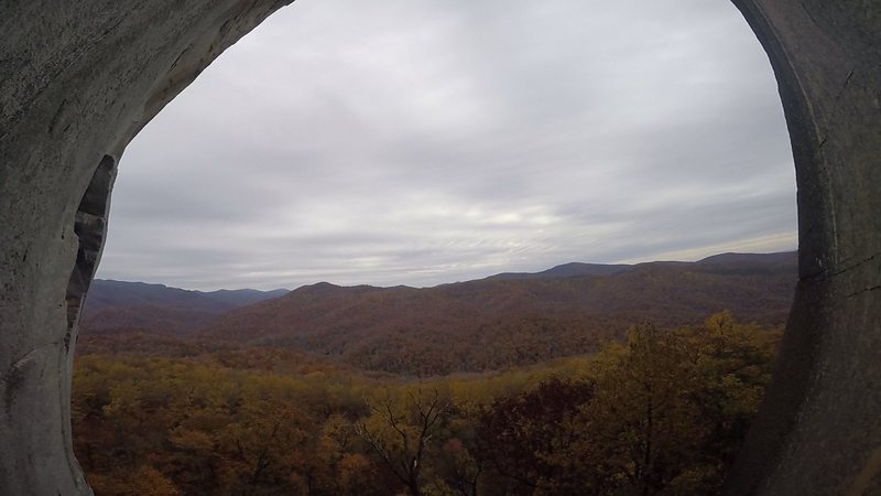 Rock Climbing Photo: The view of beautiful Pisgah from the ledge!