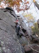 Rock Climbing Photo: Burt confronts the off-width move.