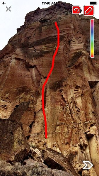 rough line of climb