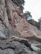 Rock Climbing Photo: 4, project, 5,12?  顶链:&#20004...