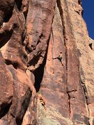 Rock Climbing Photo: I. Altman enters the changing cracks sequence on S...