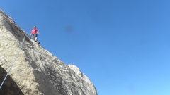 Rock Climbing Photo: V. Wentwoord on Jailbird.  Victory!