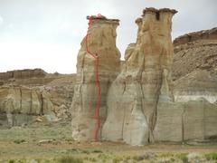 Rock Climbing Photo: A Gentleman's Line Topo