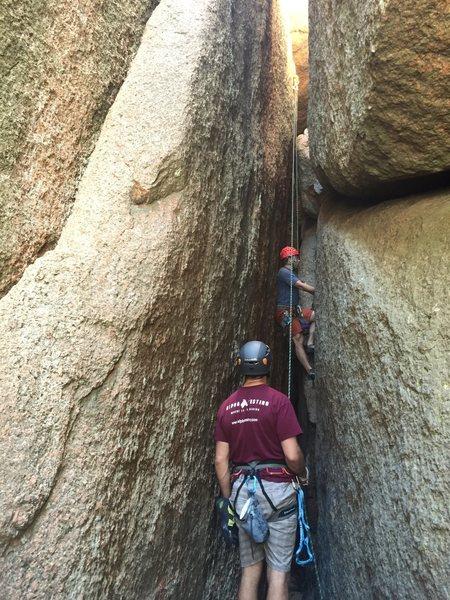 Rock Climbing Photo: Britton top-roping on Walnut Bowl Factory.