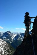 Rock Climbing Photo: High up on Mt. Elkhorn on Vancouver Island, Catwal...
