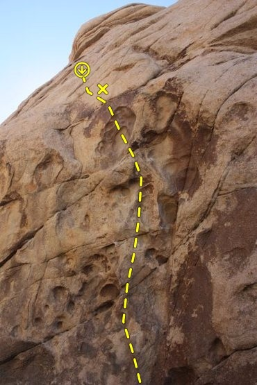 Leave it to Sterling (5.12a TR), Joshua Tree NP