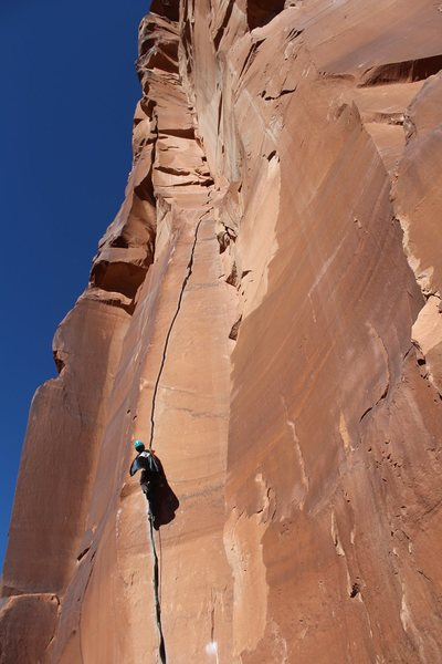 Rock Climbing Photo: Superman flies up Scarface. Photo credit Erin DeMa...