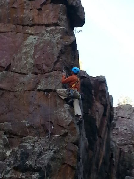 Rock Climbing Photo: Nice arete action and good protection.