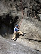 Rock Climbing Photo: Second slab to final steep featured face on la Cru...